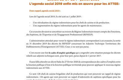 CFDT: l'agenda social 2019 enfin mis en oeuvre pour les ATTEE!