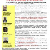 Election départementale 2021. Face à Bédier, Nous sommes candidats - Le blog de Marc Jammet, conseiller municipal PCF de Mantes la Jolie