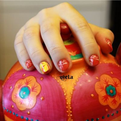 stamping et water marble