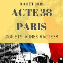 GILETS JAUNES : UN ACTE XXXVIII À PARIS ET LES BLACK BLOCS À NANTES