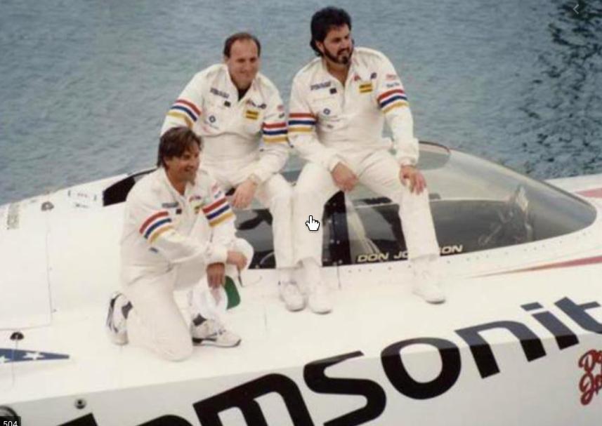 Don Johnson, acteur de série TV ET coureur Offshore Powerboat !!!