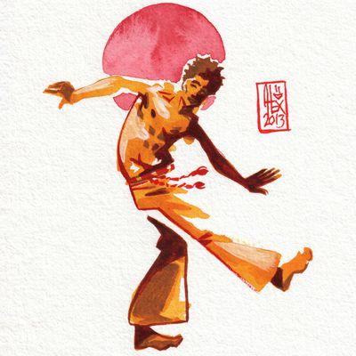 Encres : Capoeira - 298 [ #capoeira #watercolor #illustration]