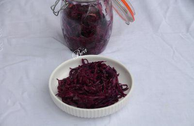 Chou rouge fermenté ou choucroute de chou rouge
