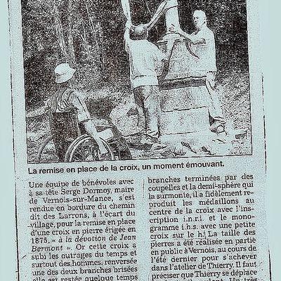 Restauration de la Croix des Larons