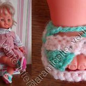 tuto gratuit poupée : sandales multicolores - Chez Laramicelle
