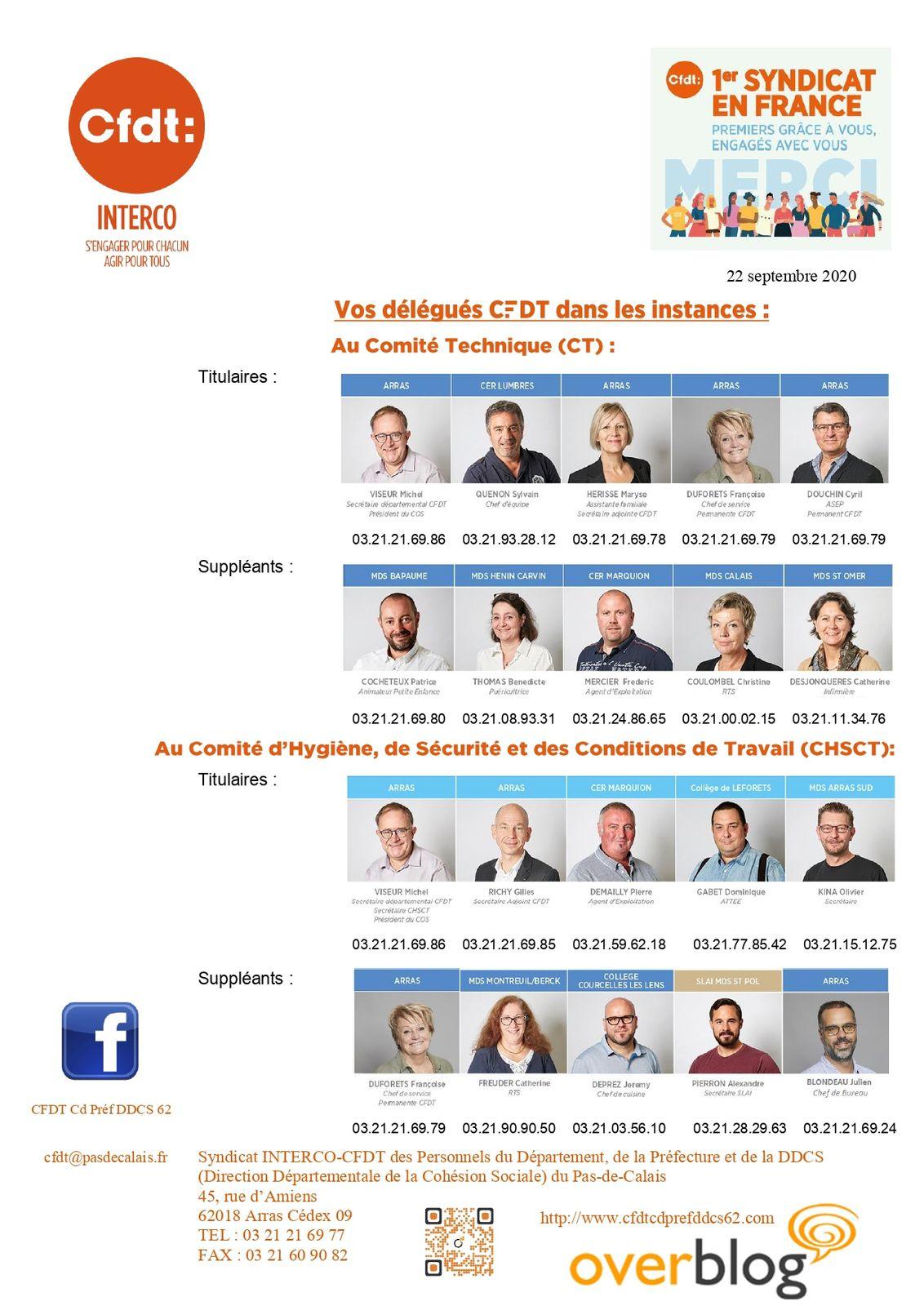 Bienvenu à Alexandre Pierron en sa qualité de membre CFDT du CHSCT!