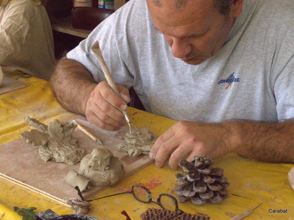 Atelier animé par Sophie Boissy dans le cadre de l'association Carabât.