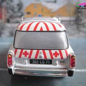 FASCICULE N°57 CITROEN DS ID 19 BREAK AMBULANCE 1960 CROIX ROUGE FRANCAISE AUTUN UNIVERSAL HOBBIES 1/43 - car-collector