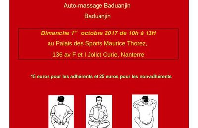 GYMNASTIQUE CHINOISE - STAGE dimanche 1er octobre 2017
