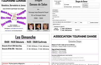 Stages Danses de Salon 2013/2014 Avril et Mai.