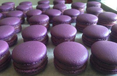 Macarons Cassis selon christophe Felder