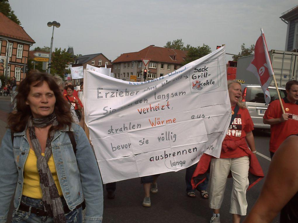 Streik der KITA-Beschäftigten in Soltau Fallingbostel, DEMO durch die Soltauer Innenstadt  Alle Fotos: DGB-Kulturarbeitskreis SFA