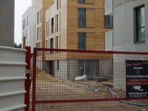 Vous pouvez constater la densité des logements et programme immobilier entre eux