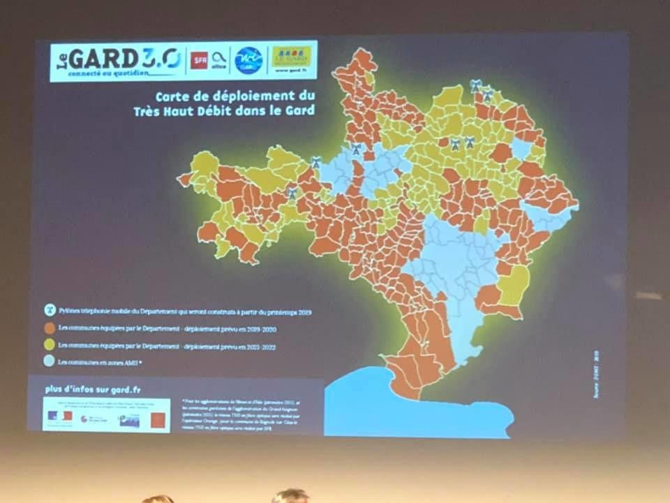 Déploiement du très haut débit dans le Gard