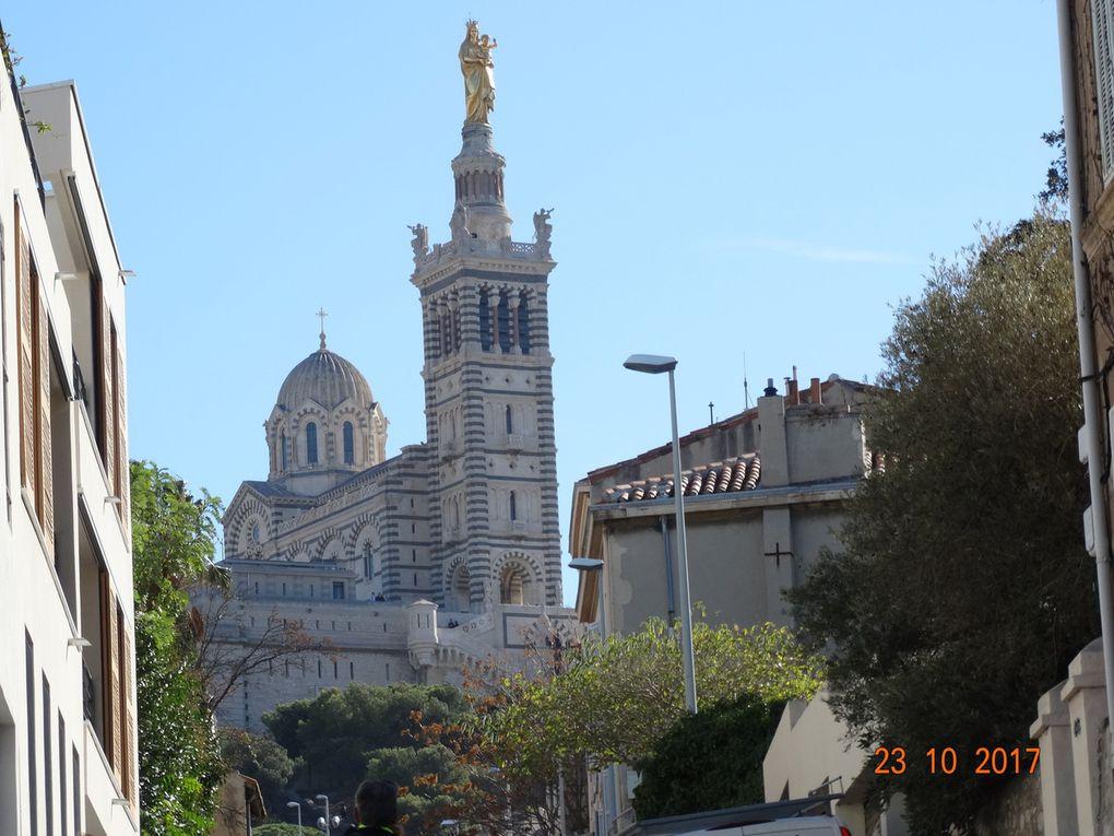 l'ascension de la colline de Notre-Dame de La Garde,(le retour ) ......