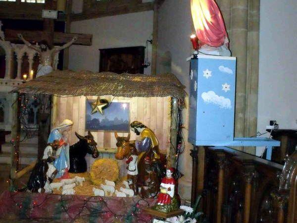 La messe de minuit à l'église et à la grotte d'Algrange en 2011