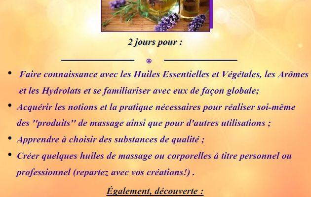 """Formation """"Aromes, essence de massage"""" avec Aurélie Boucherie à Bercloux (17)"""