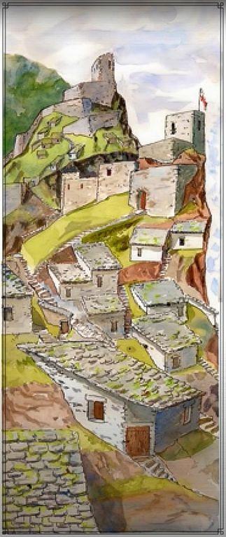 Diaporama des 2 châteaux d'Ambialet