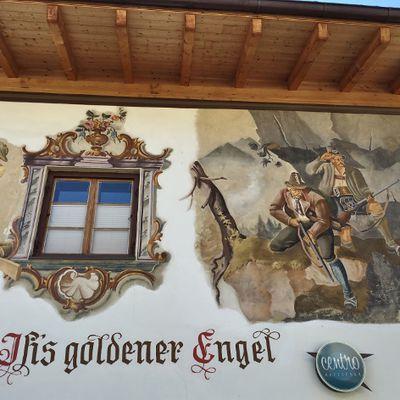 Détails des maisons bavaroises à Garmisch Allemagne