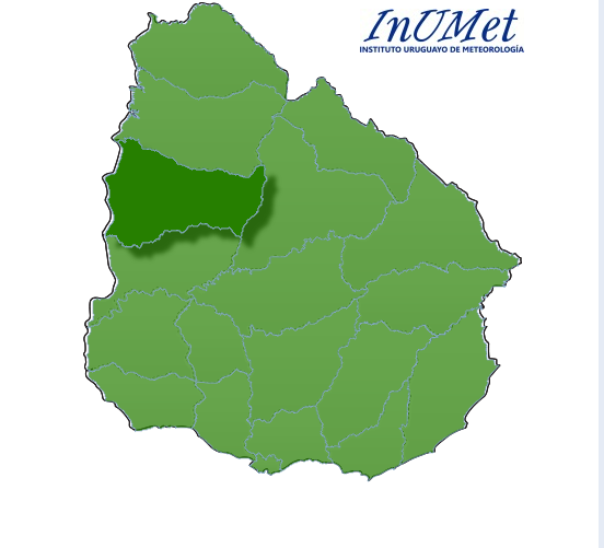 SIN ALERTAS. Parcialmente nublado, con areas de nubosidad, con una temperatura maxima para el Jueves 22 de 24° en Paysandu