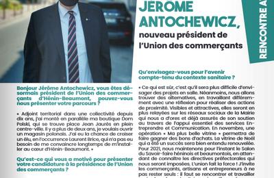 A propos de l'union commerciale d'Hénin-Beaumont et de son nouveau président