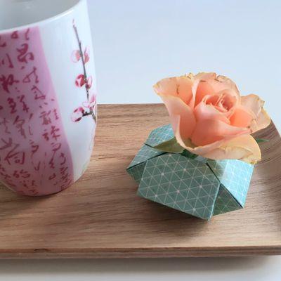 Origami : mini-vase
