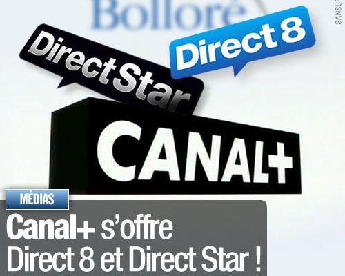 Canal+ s'offre Direct 8 et Direct Star !
