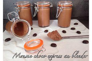 Mousse choco express au blender