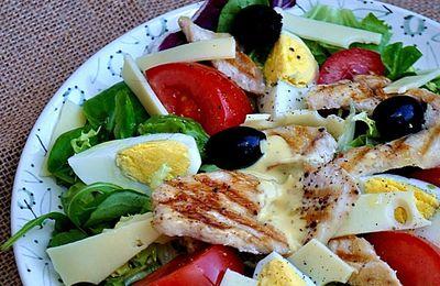 Salade composée au poulet grillé