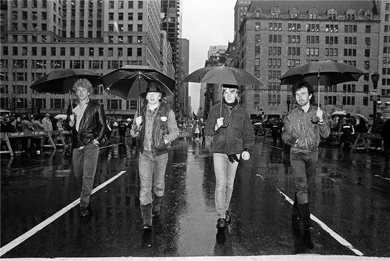 U2 à New York lors du défilé de la St Patrick 1982