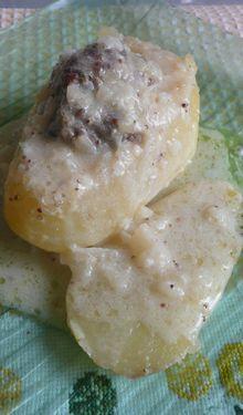 Pommes de terre farcies aux deux moutardes