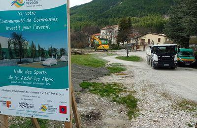 CCAPV: Premiers coups de pelle pour le gymnase de Saint André les Alpes