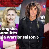 Le casting des personnalités de Ninja Warrior saison 3 #NinjaWarrior - SANSURE.FR