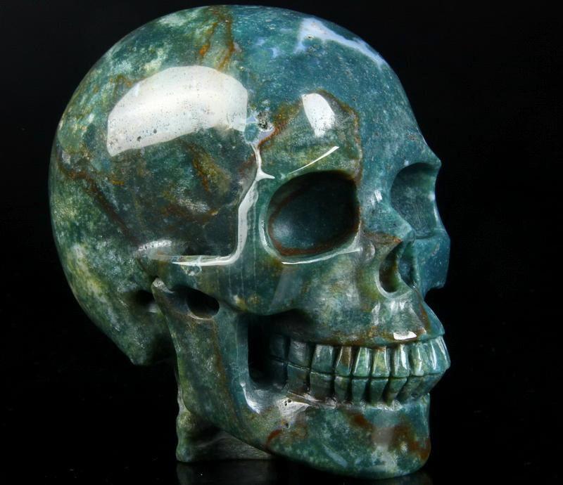Geode Amethyst Agate Calcite Fluorite Citrine Skull Carving