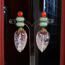 """Boucles d'oreilles clips en pierres naturelles nommées : """" ACCORD """" . Bijou de créateur. Paris"""