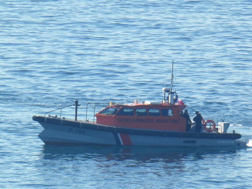 HARNOIS  P795 , Vedette de surveillance maritime et portuaire (VSMP) en rade de Marseille le 01 mai 2019