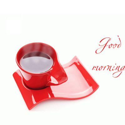 Good Morning - Tasse - Red - Wallpaper - Free