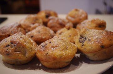 Mes muffins au chocolat et à la banane