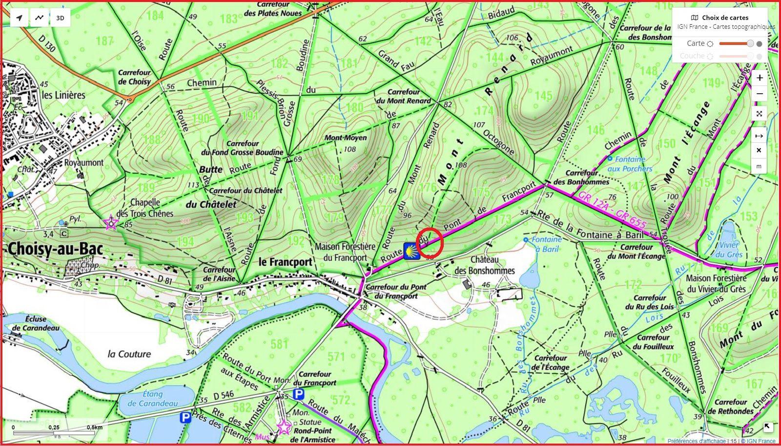 carrefour_Route du Pont du Francport_Sentier_2 (parcelle 176)