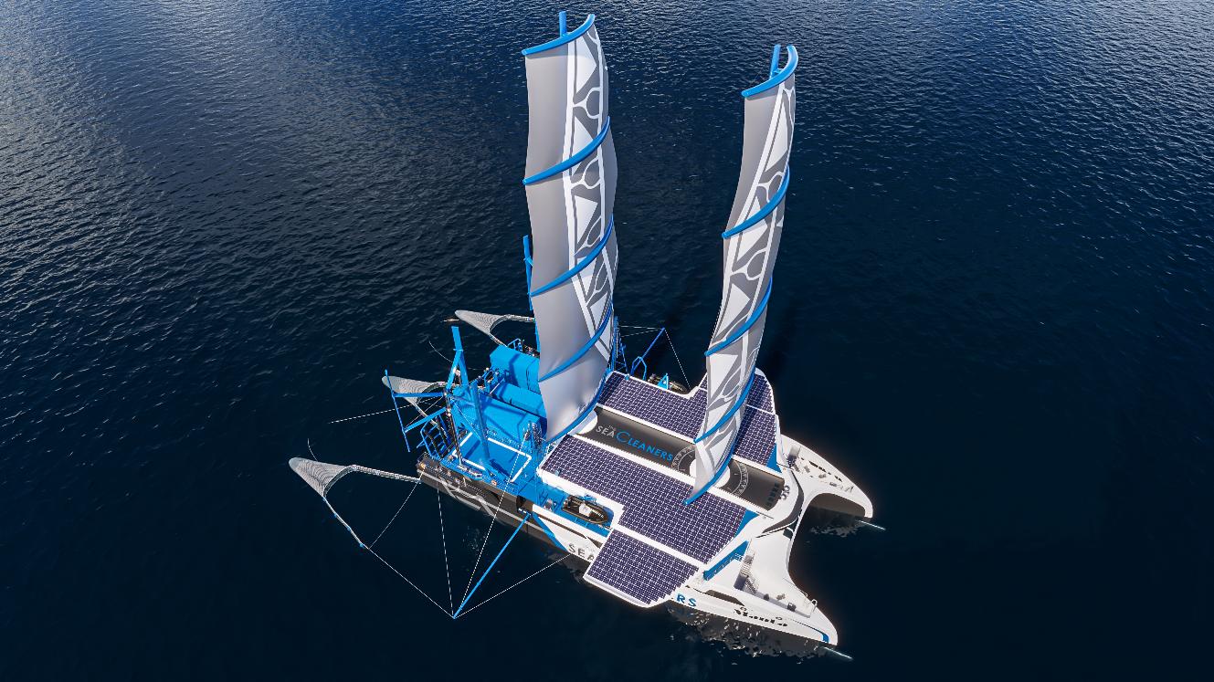 Environnement – Yvan Bourgnon et The SeaCleaners lancent le Manta, pour lutter contre la pollution plastique