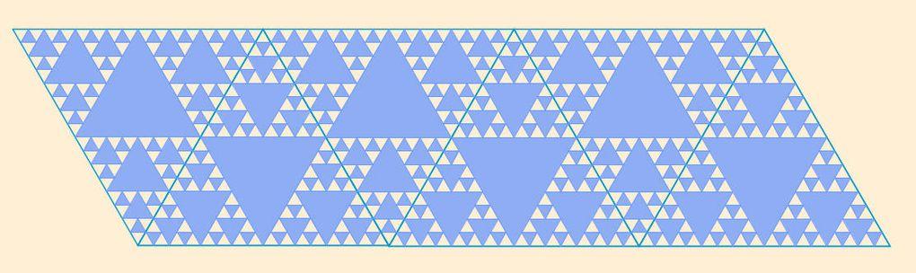 Triangles & tapis de Sierpinski signés Tottoer (commune de Bandal)