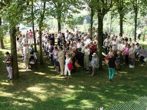 Messe de l'Assomption 2012 à la grotte Notre Dame d'Algrange