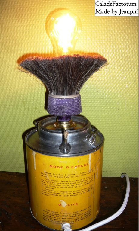 Lampe Vintage Pot Peinture et Brosse Boirolin - VENDUE !!