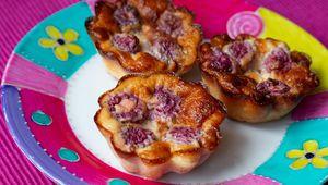 Petits flans pâtissiers aux framboises sans pâte (au Thermomix ou sans)