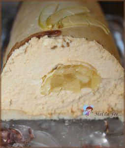 Bûche bavaroise caramel beurre salé et insert pomme