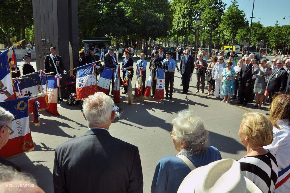 77ème anniversaire de l'Appel du 18 juin: Cérémonie à Paris de l'UGF- 2017