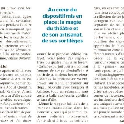 Les Ateliers Phil'Osons et le Théâtre National de Marseille la Criée : retour sur la belle aventure qui se poursuit pour la saison 2020/2021!