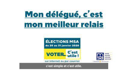 Elections MSA 2020 - salariés agricoles (sous-titrés)