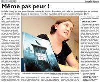 Isabelle Haury dans Le Républicain Lorrain du 3 août 2013 !