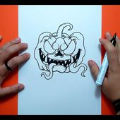 Como dibujar una calabaza paso a paso 10 | How to draw a pumpkin 10